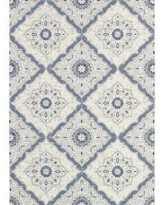 Couristan Outdoor Rug, Dolce Brindisi in Ivory & Gray 8x11