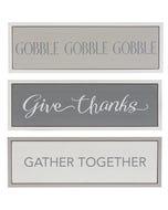 CBK Fall and Thanksgiving Framed Shelf Signs