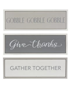 CBK Fall and Thanksgiving Framed Shelf Signs