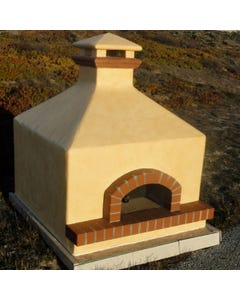 Forno Bravo Toscana Wood Fired Oven, Hipped Enclosure