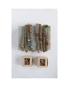Boxed Tinsel and Bead Garland