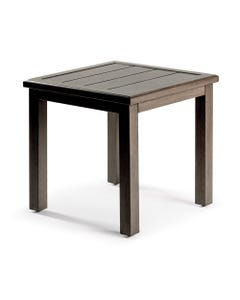 """Eddie Bauer Horizon 21"""" Square End Table in Faux Aged Teak Finish"""