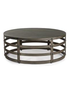 "Eddie Bauer Horizon 40"" Round Coffee Table with Faux Aged Teak"