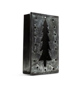 Kalalou Tin Bag Christmas Tree Luminary, side view