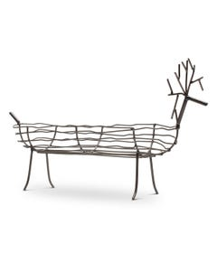 Kalalou Small Oval Wild Wire Deer Basket