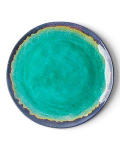 "Merritt 9"" Turquoise Natural Elements Salad Plate - Top View"