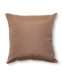 Casual Cushion Throw Pillow in Canvas Cocoa