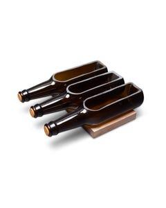 Ale & Vine Beer Bottle Snack Bowl with Cork Stopper and Wooden Boat Holder