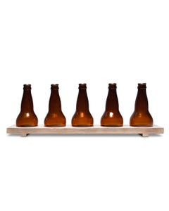 Ale & Vine Beer Bottle Tealight Domes on Brew Tray