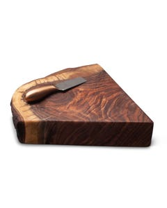 UTC Hardwoods Walnut Cheese Board and Knife Set