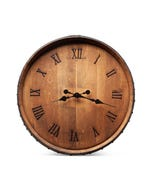 Burgundy Oak Barrel Head Clock