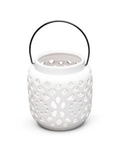 Surya Ceramic Lantern, Small