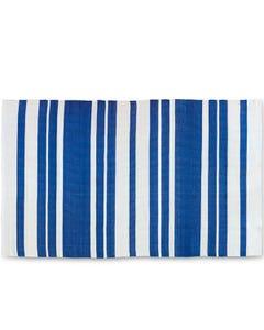 Surya Outdoor Rug, Picnic Navy Blue/Cream Stripe