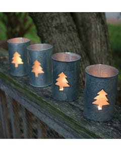 Kalalou Round Tin Tree Luminary