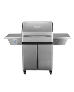 Memphis Wood Fire Grills Memphis Pro Pellet Grill on Cart, 430 Stainless Steel