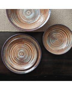 Merritt Glazed Swirl Brown Dinnerware Collection