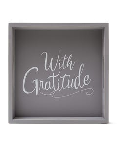 """With Gratitude"" Square Tray"