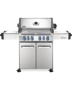 Napoleon Grills Prestige 500 Gas Grill with Infrared Side and Rear Burners, Stainless Steel