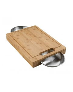 Napoleon Grills Cutting Board with Stainless Steel Bowls