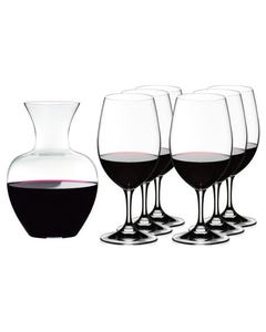 Riedel Ouverture 6 Magnum Glasses and Apple Decanter