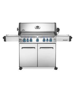Napoleon Grills Prestige 665 Gas Grill with Infrared Side and Rear Burners, Stainless Steel