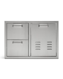 """Quivira 36"""" Combo Trash/Propane Rollout with Two Drawers"""