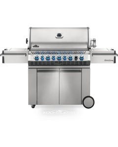 Napoleon Grills Prestige PRO 665 Gas Grill with Infrared Side and Rear Burners, Stainless Steel