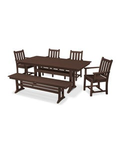 POLYWOOD Traditional Garden Farmhouse Dining Set