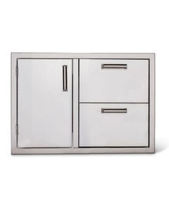 """Quivira 30"""" Single Door with Two Drawers"""