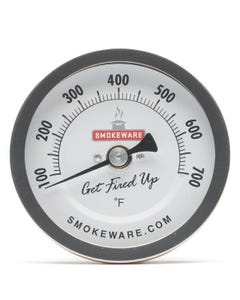 """SmokeWare 3"""" Easy Read Thermometer, White Face"""