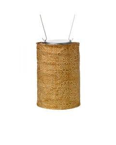"""Allsop Soji Stella 7.5"""" Cylinder Solar Lantern in Bronze"""