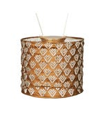 "Allsop Soji Stella 8"" Drum Solar Lantern in Copper"