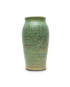 Surya Tall Ceramic Vase, Dark Green