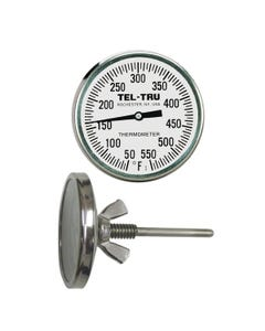 Tel-Tru BQ225 Plain Dial Barbecue Thermometer