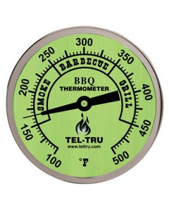 "Tel-Tru BQ300 3"" Glow Dial Barbecue Thermometer"