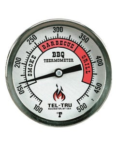 """Tel-Tru BQ300 3"""" RedZone Dial Barbecue Thermometer"""