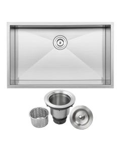 "Ticor Undermount 16-Gauge 32"" Stainless Steel Single Bowl Sink, S3510"