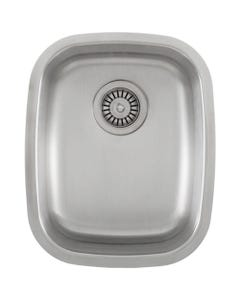 "Ticor Undermount 16-Gauge 15"" Stainless Steel Single Bowl Sink, S805"