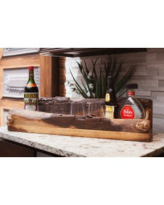UTC Hardwoods Live Edge Bar Caddy, Black Walnut