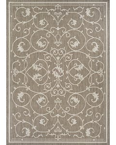 Couristan Outdoor Rug, 8'x10' Recife Veranda in Champagne & Taupe