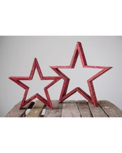 Wooden Red Stars