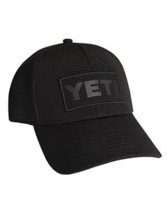 YETI Black on Black Patch Trucker Hat