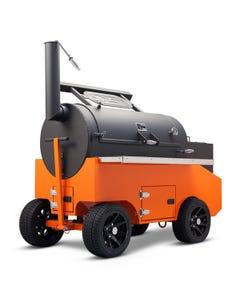 """Yoder Smokers 26"""" Cimarron Offset Smoker on Competition Cart"""
