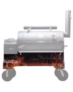 Yoder Smokers YS1500 Competition Cart Magnetic Wrap - Orange Flames
