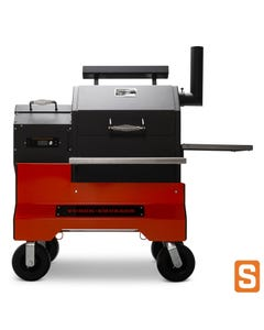 Yoder Smokers YS480s Pellet Grill with ACS on Competition Cart
