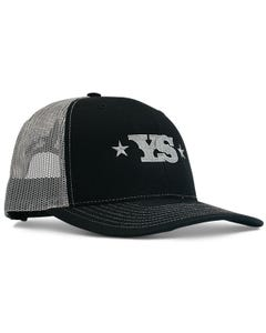 Yoder Smokers Trucker Hat, Black/Charcoal
