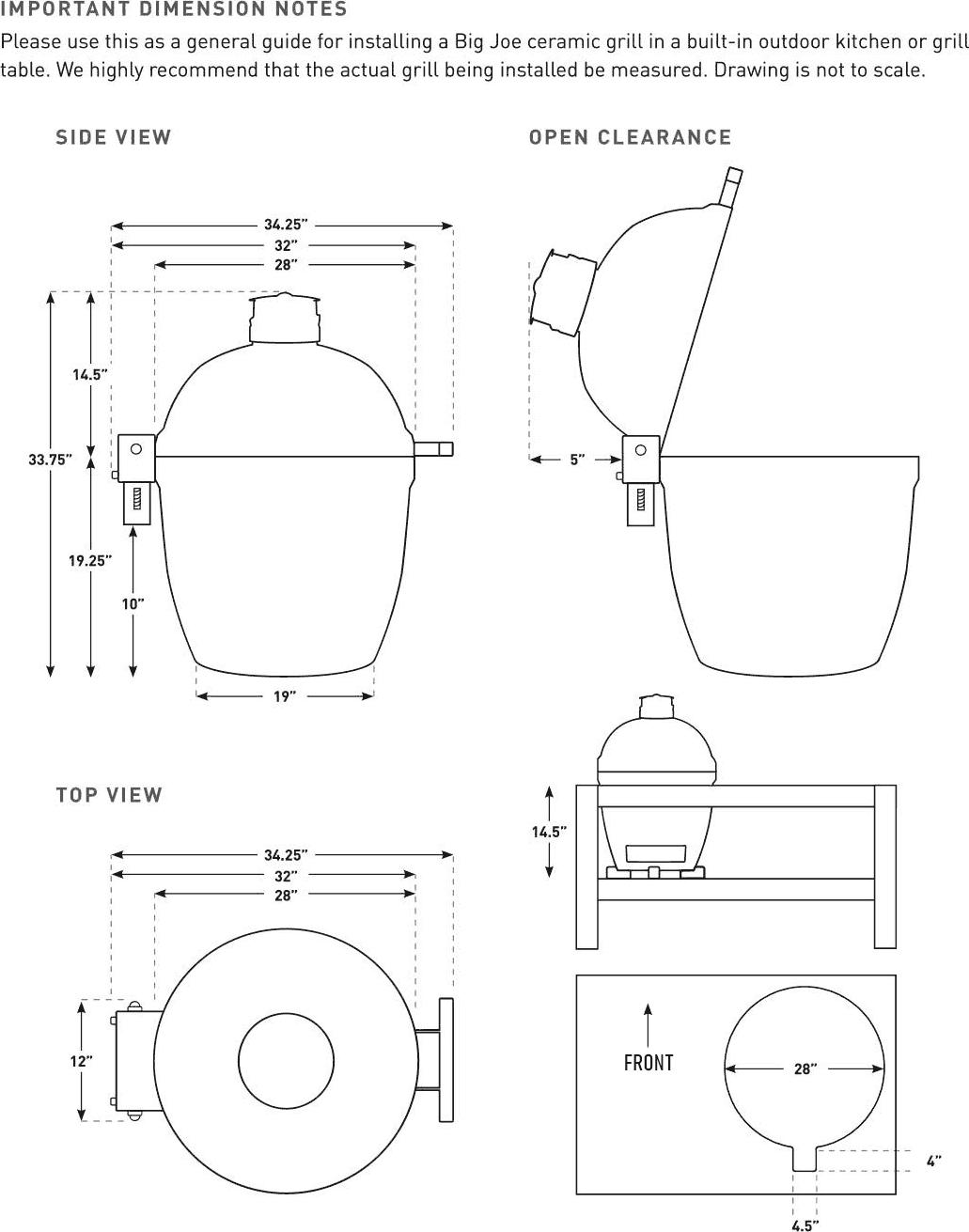 Kamado Joe Big Joe II Ceramic Grill Specifications
