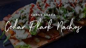 Carne Asada Cedar Planked Nachos
