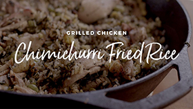 Grilled Chicken Chimichurri Fried Rice Recipe