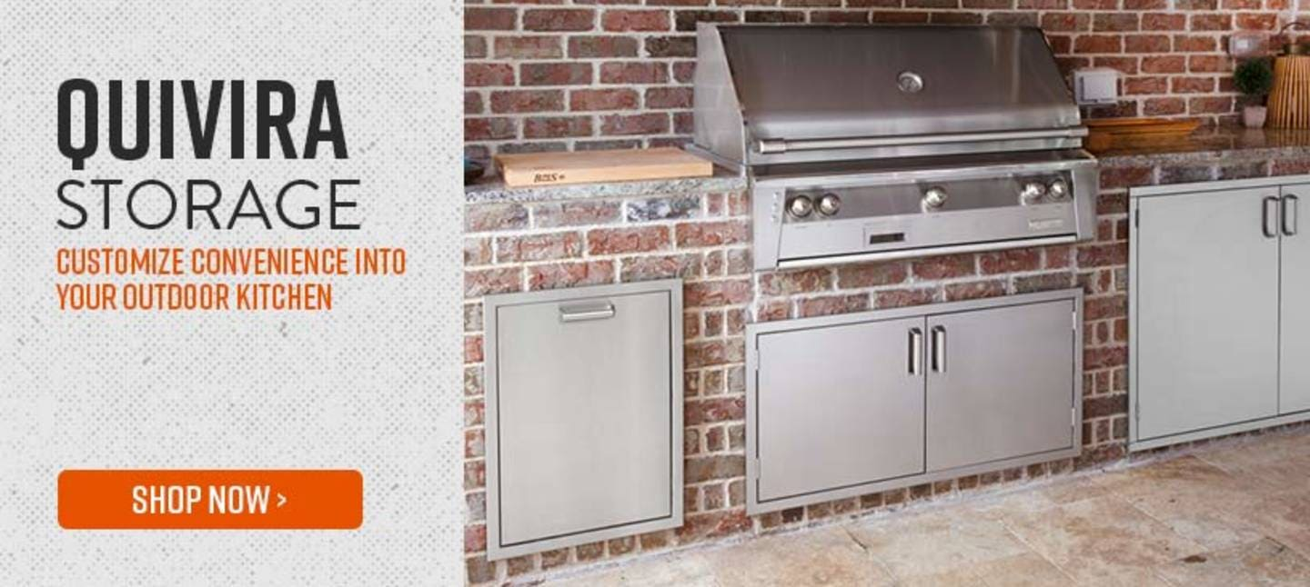 Quivira Storage - CUSTOMIZE CONVENIENCE INTO YOUR OUTDOOR KITCHEN